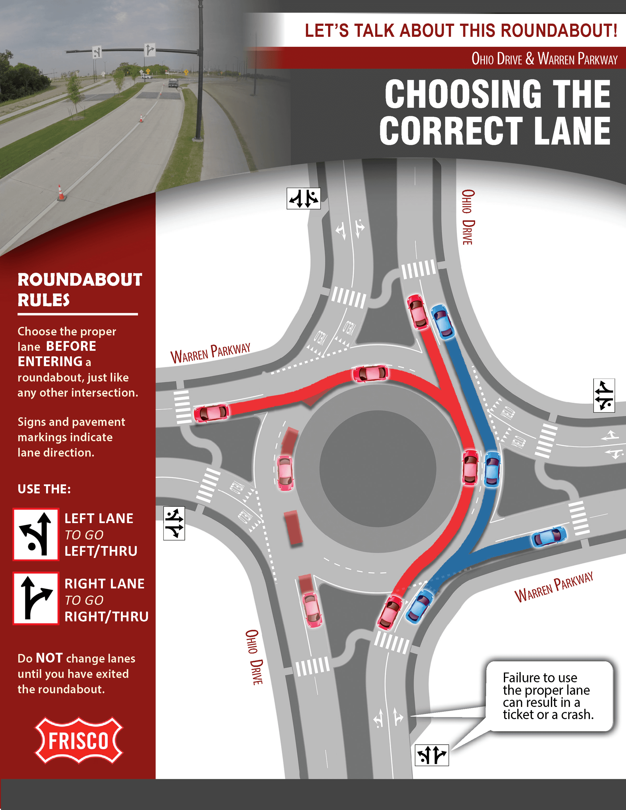 Choosing Your Lane in a Roundabout
