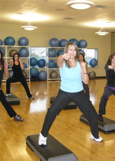 People Participating in a Group Exercise Class