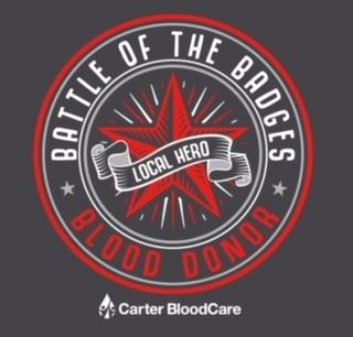 Battle of the Badges Blood Drive  Local Hero Logo